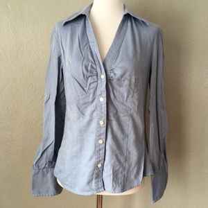 Ann Taylor LOFT Striped Professional Button Up Top